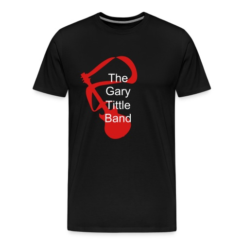 Men's Premium T-Shirt - Black T!  The GTB Guitar Logo with the Band Name over top.  Fruit of the Loom Premium shirt.  Stitched throughout.