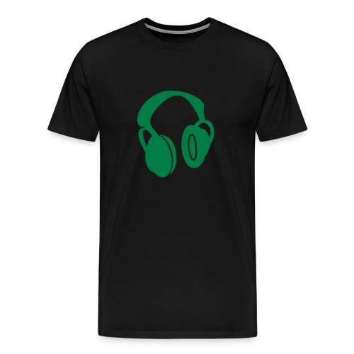 Headphones drkgrn - Men's Premium T-Shirt