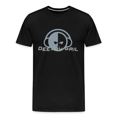 Personalize your DJ Shirt Black and Silver - Men's Premium T-Shirt