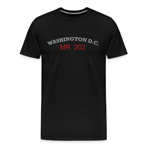 Men's Premium T-Shirt - This shirt explin it self, for any fan that feel like they are Mr 202 or a native of DC