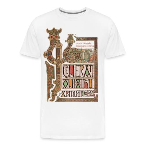 Lindisfarne Gospels; Introduction to Gospel of Matthew - Men's Premium T-Shirt