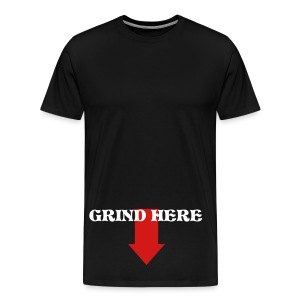 black grind here t shirt - Men's Premium T-Shirt