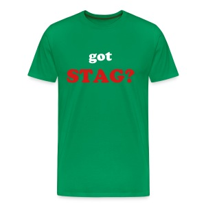 got STAG? - T-SHIRT - IZATRINI.com - Men's Premium T-Shirt