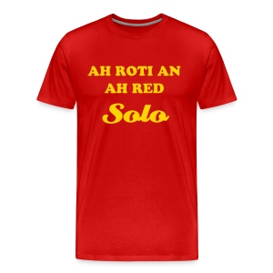 AH ROTI AN AH RED SOLO - T-SHIRT - IZATRINI.com - Men's Premium T-Shirt