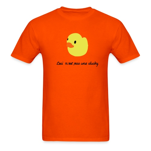 duckie - orange - Men's T-Shirt