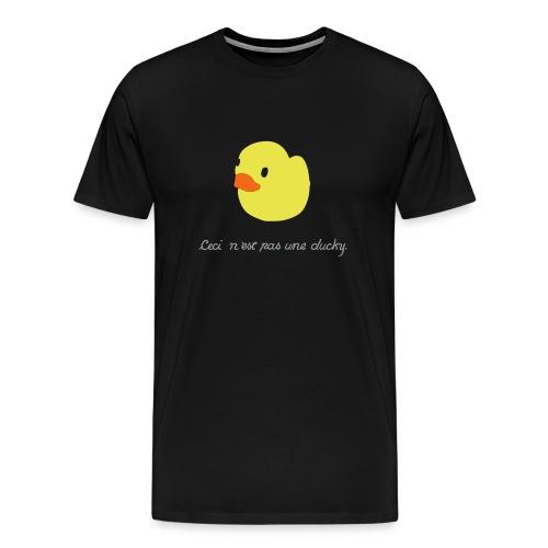 duckie - black - Men's Premium T-Shirt