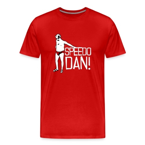 Men's Red Speedo Dan - Men's Premium T-Shirt