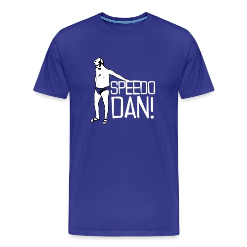 Men's Blue Speedo Dan - Men's Premium T-Shirt