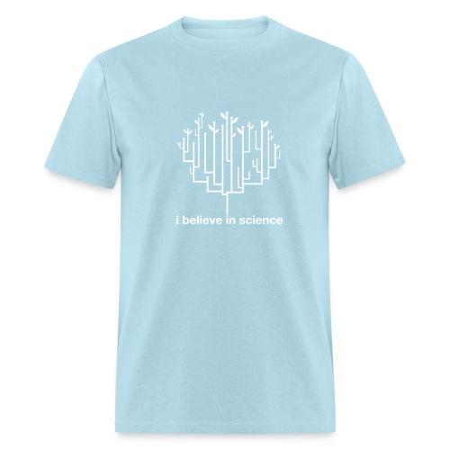 Tree of Life: Light Blue (White) - Men's T-Shirt