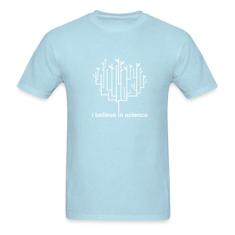Tree of Life: Light Blue (White) - Men's T-Shirt