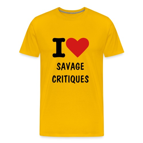 I [heart] Savage Critiques Heavyweight Cotton T [yellow] - Men's Premium T-Shirt
