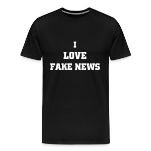 I love Fake News - Men's Premium T-Shirt