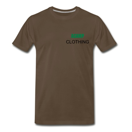 BROWN ACAMP SHIRT - Men's Premium T-Shirt