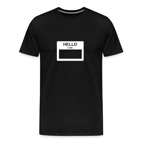 hi my name is - Men's Premium T-Shirt