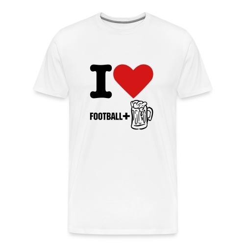 football + beer - Men's Premium T-Shirt