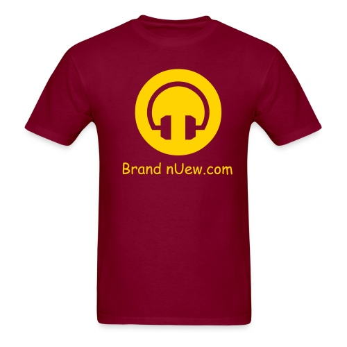 Mens: Brand nUew Orange Headphones - Men's T-Shirt