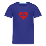 Kids' Shirts ~ Kids' Premium T-Shirt ~ duckies of love - red on blue