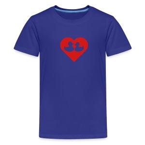 duckies of love - red on blue - Kids' Premium T-Shirt