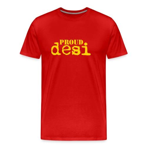 Proud Desi - Orange on Red XXXL for Men - Men's Premium T-Shirt