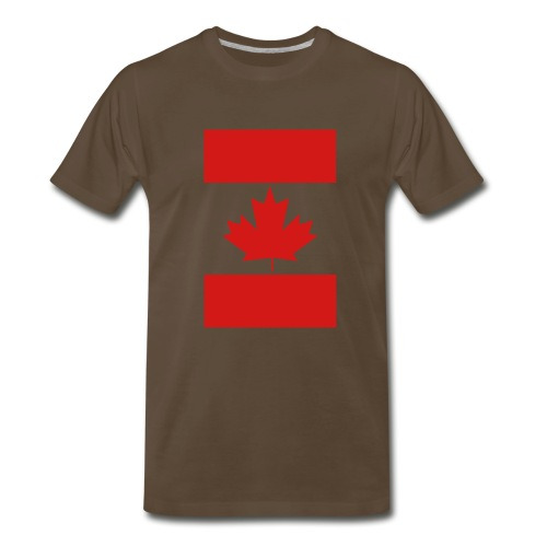 Vertical Canada Flag - Men's Premium T-Shirt
