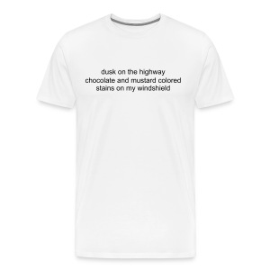 dusk on the highway white tee - Men's Premium T-Shirt