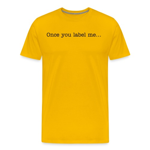Label me tee - Men's Premium T-Shirt