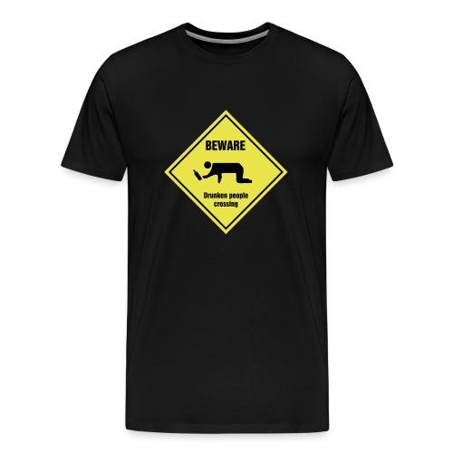 Drunken People Crossing - Men's Premium T-Shirt