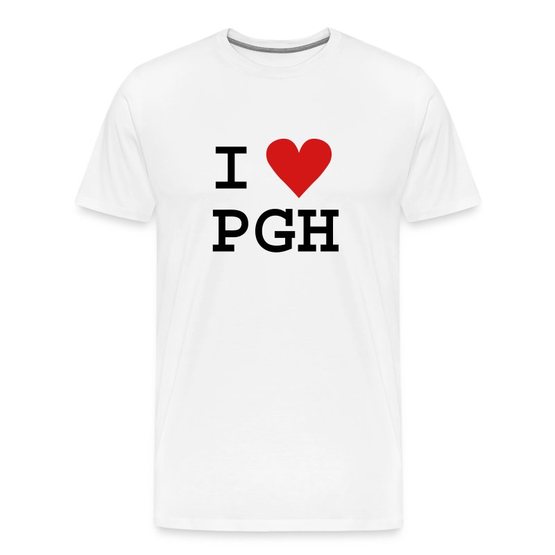 I heart PGH T-shirt - Heavy weight cotton - Men's Premium T-Shirt