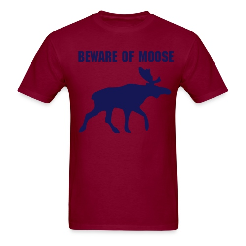 Beware of moose men's tee shirt - Men's T-Shirt
