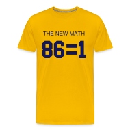 T-Shirts ~ Men's Premium T-Shirt ~ The New Math - Maize