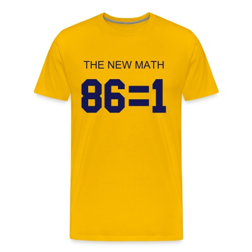 The New Math - Maize - Men's Premium T-Shirt
