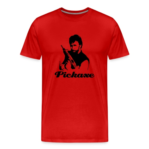 Chuck Norris Endorses Pickaxe - Men's Premium T-Shirt