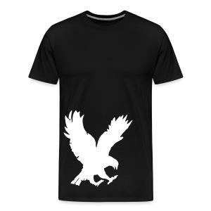 ttoSoaringEagle: B/W Bottom Bird T-Shirt - Men's Premium T-Shirt