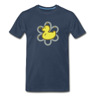 T-Shirts ~ Men's Premium T-Shirt ~ atomic duckie - navy