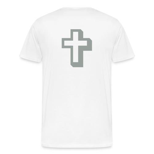 Silver on White - Men's Premium T-Shirt