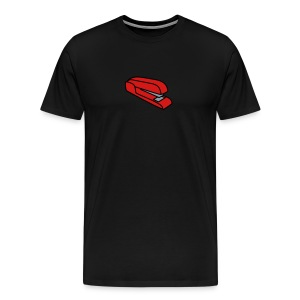 Stapler T-Shirt (Black) - Men's Premium T-Shirt