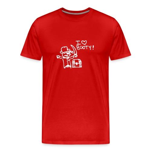 Mens I love booty - Men's Premium T-Shirt