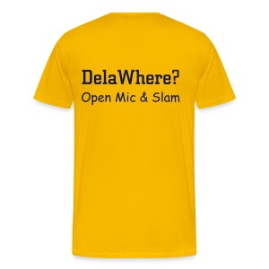 DelaWhere? Shirt (Yellow) - Men's Premium T-Shirt