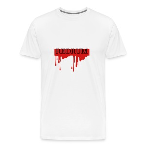 REDRUM in Blood Heavyweight Cotton T-shirt in White - Men's Premium T-Shirt
