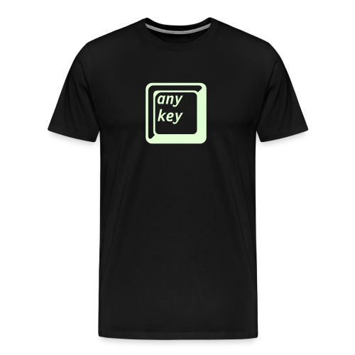 Glow in the dark any key - Men's Premium T-Shirt