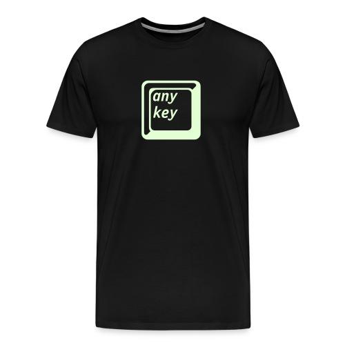 Glow in the dark any key - Men's Premium T-Shirt