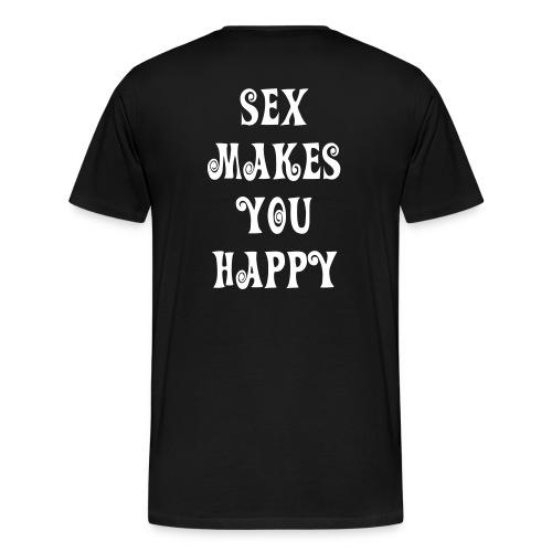 blk/wht sex shirt - Men's Premium T-Shirt