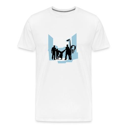 Urban White T-Shirt - Men's Premium T-Shirt
