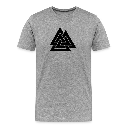 Odin's Mark, the Valknut - Ash - Men's Premium T-Shirt