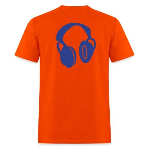 Drop One Step Headphone Tee (Orange) - Men's T-Shirt