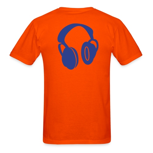 Drop One Step Headphone Tee (Orange) - Men's T-Shirt