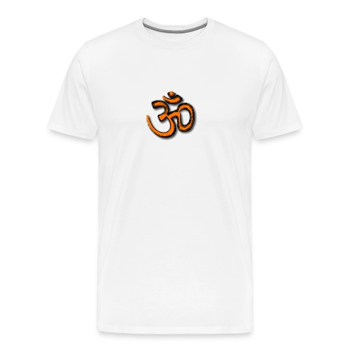 Om - Men's white tee - Men's Premium T-Shirt