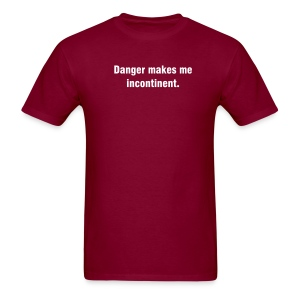 Danger - White Print - Men's T-Shirt