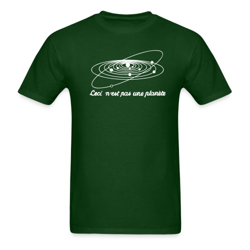 planete-green/white - Men's T-Shirt