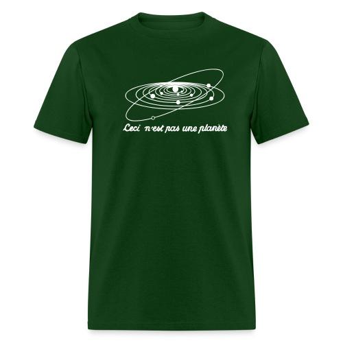 planete-green/white - Men's T-Shirt